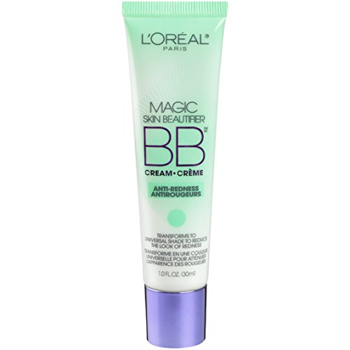 L'Oréal Paris Makeup Magic Skin Beautifier BB Cream Tinted Moisturizer Face Makeup, Anti-Redness, Green, 1 fl. oz.