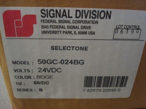 FEDERAL SIGNAL 50GC-024BG 4'' SQUARE SPEAKER