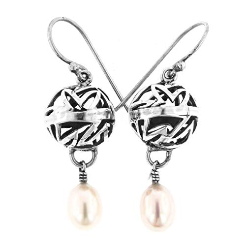 1'' Freshwater Pearl CAST 925 Sterling Silver Earrings YE-1229 ()