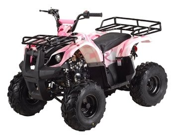 TAO TAO Brand Model TFORCE 110cc Four Wheeler with BIGGER 8'' Tires and REVERSE - BLACK color