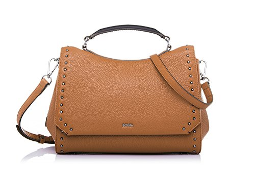 bonia-womans-brown-exquisite-satchel-m-one-size