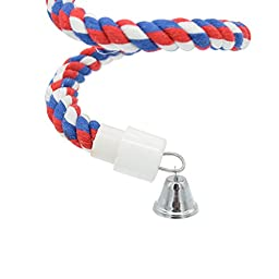 CocoGo 1/2-Inch by 45.5-Inch Cotton Rope Bungee Bird Chewing Toy Suitable for Small or Medium Parrots and Birds