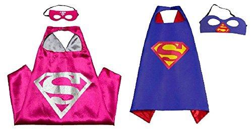 Superhero Direct Superhero Capes and Masks - Kids Size (Superman - Supergirl)