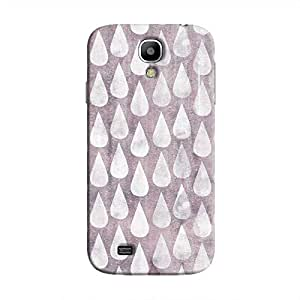 Cover It Up - Raindrops Print Violet Galaxy S4 Hard Case
