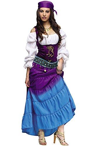 Fun World Women's Gypsy Moon Costume, Multi, Medium