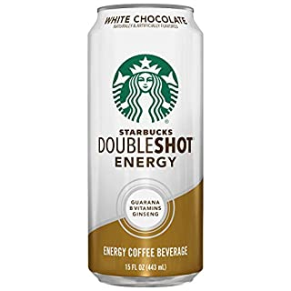 Starbucks, Doubleshot Energy Drink, White Chocolate, 15 Fl Oz (Pack of 12)