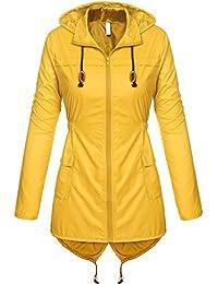 Women's Lightweight Packable Outdoor Coat Windproof Hoodies Rain Jacket