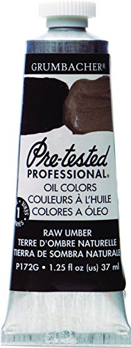 Grumbacher Pre-Tested Oil Paint, 37ml/1.25 Ounce, Raw Umber (P172G) by Grumbacher