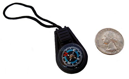 Type III 5pc Liquid Filled Zipper Pull Compass Set for Paracord Projects or Bug Out Bags (2nd Gen)