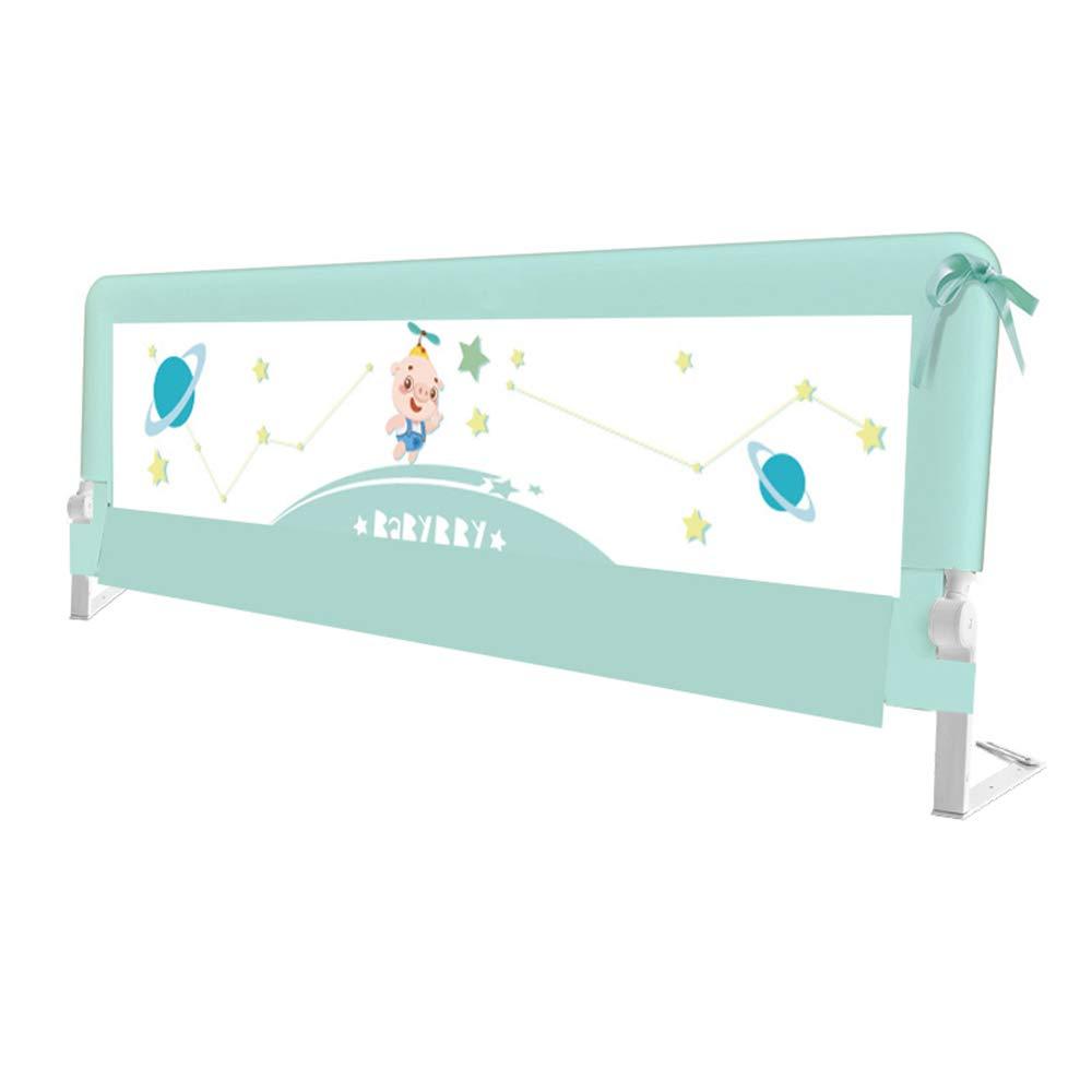 LHA ベッドガードフェンス ベッドの手すり子供の安全ベビー折りたたみグリッドトラック緑 (サイズ さいず : L-180cm) L-180cm  B07HYJZVL2