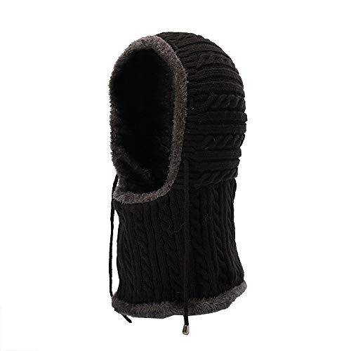Chair Denver Leather (URIBAKE Unisex Knitted Warm Hat Neck Covered Crochet Winter Plus Velvet Thick Siamese Collar)