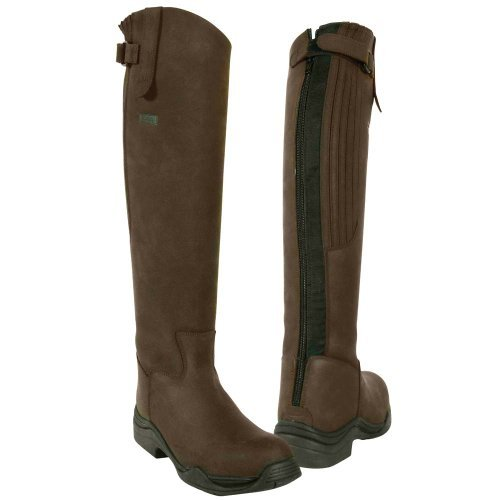 Boot Cheeco Toggi 38 Brown Full Riding eu Long Zip Leg 5 With Fitting By Leather In Size Calgary SUwIUrqP