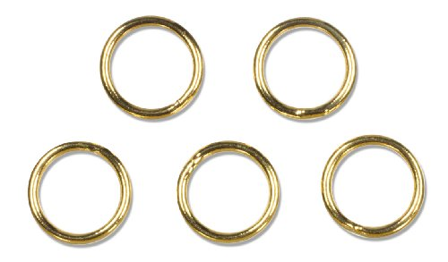 6mm Closed Jump Rings - Cousin Gold Elegance 14K Gold Plate Closed Jump Ring, 16-Piece, 6mm