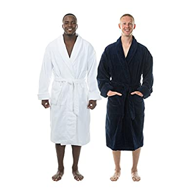 Comfy Robes Men's Terry Velour Shawl Collar Bathrobe