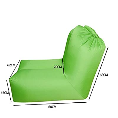 Portable Inflatable Lounger Chair Air Sofa Bed Sleeping Bag with Adjustable Backrest for Indoor Outdoor Camping Beach Park Backyard Pool