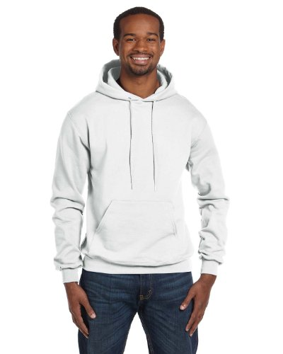 (Champion Double Dry Men`s Action Fleece Pullover Hood White)