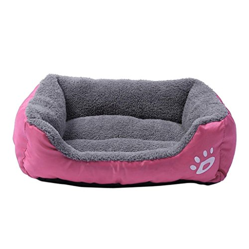 Price comparison product image Smdoxi Orthopedic Dog Couch Sofa Pet Bed for Dogs and Cats (M,  Hot pink)