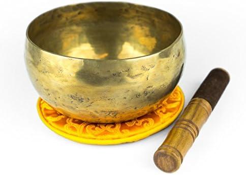Buddhismus Tibetische Klangschale Set Tibetischen Glocke mit Klöppel Holzstab