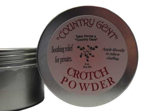 Crotch Powder, 4 oz Tin, Puff included Country Gent