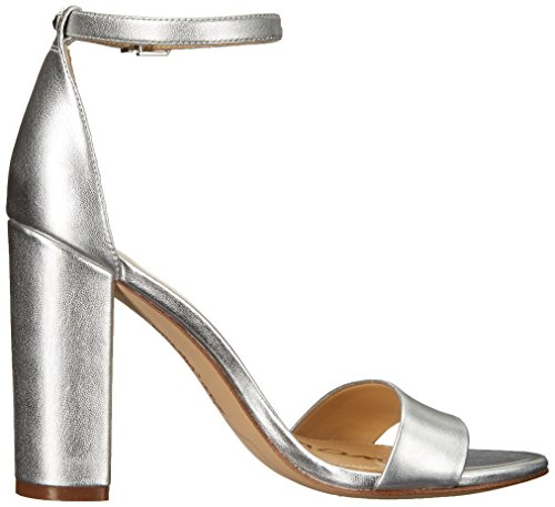 Sam Edelman Sandales pour Femme Aquarian Blue Kid Suede Silver Metallic Leather eeBOVARsU0