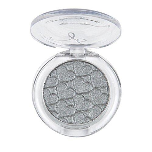 Usstore 1PCS Eyeshadow Eyes Makeup Eye Shadow Palette Cosmetics (Silver)