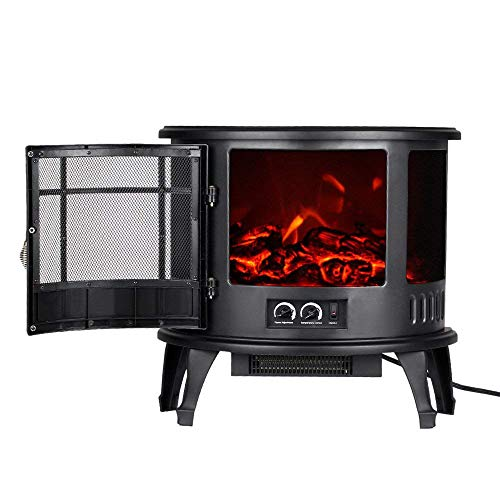 Cheap MMJ Freestanding Electric Fireplace Flame Adjustment 1500W 23
