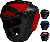RDX Headguard Maya Hide Leather Boxing MMA Protector Headgear Fighting Head Guard Sparring Helmet