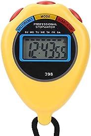 01 Temporizador esportivo, cronômetro eletrônico multifuncional, combinação profissional para corrida de cronô