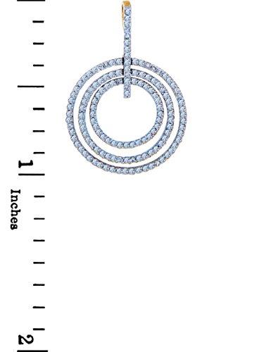 10 ct 471/1000 Diamant - Trois Kreise Or Avec Diamants Pendentif