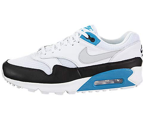 Nike Air Max 90/1 Men's Shoes White/Neutral Grey/Black aj7695-104 (10.5 D(M) US) (Nike Air Max 90 Leather Black Grey)
