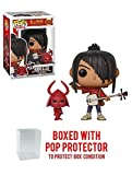 Funko Kubo w/ Little Hanzo: Kubo The Two Strings x POP! Movies Vinyl Figure & 1 PET Plastic Graphical Protector Bundle [#650 / 32827 - B]