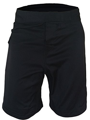 WOD Shorts 10' Inseam - Impact 2.0 Series - Side Pocket, 5' Slits. (Black/Camo, 32)
