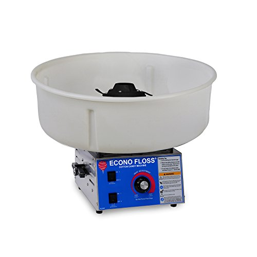 Gold Medal 3017-00-010 Econo Floss Cotton Candy Machine with Non-Metallic Bowl (Candy Medal Gold Maker Cotton)