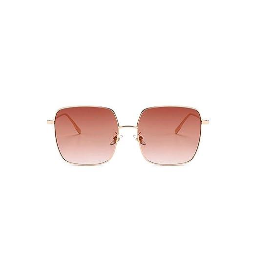 0a82c1760d5e GAMT Polarized Sunglasses For Women Square Lens Full Frame Gold Frame Brown  Film