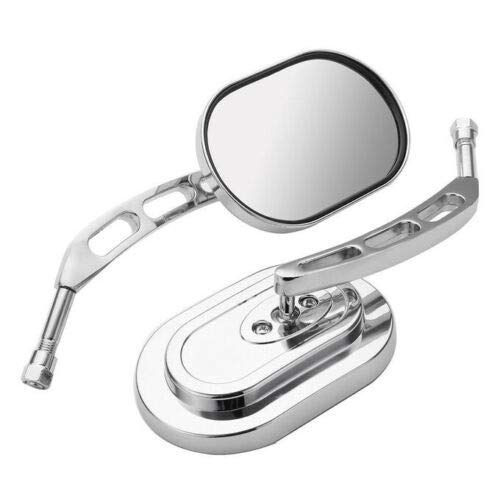 Motorcycle Rear View Mirrors Chrome For Harley Davidson Electra Glide Classic