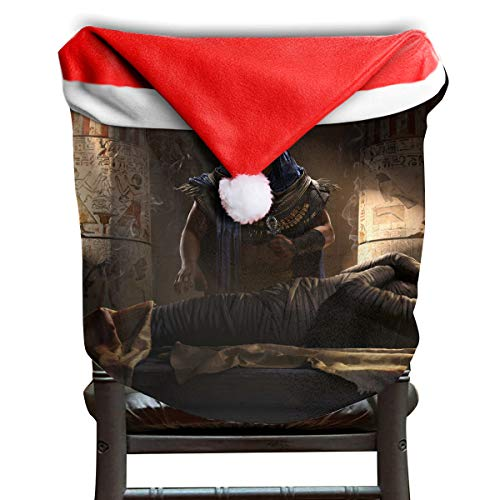EDYE Halloween House Haunted Mummy Mask Christmas Xmas Themed Dinning Seat Chair Cap Hat Covers Ornaments for Backers Slipcovers Wraps Coverings Decorations Protector Set -