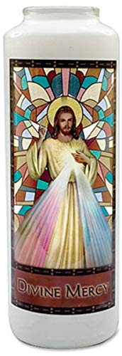 - Jesus Christ Divine Mercy Stained Glass Gleamlights Candle