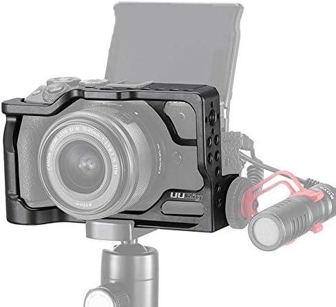 "Kiowon Canon EOS M6 Mark IIミラーレスデジタルカメラ用カメラケージ、1/4""ネジ穴&コールドシュー付き"