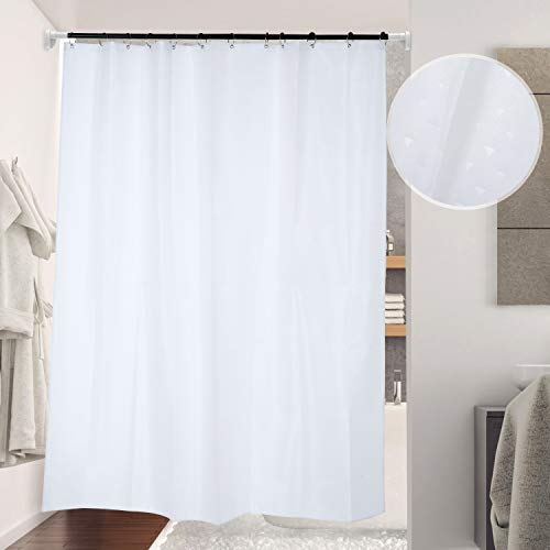 Lemecima Shower Curtain with Hooks 70.8x78.8 Inches Hotel Style Thicken Bathroom Shower Curtain Set-White