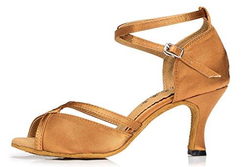 marrón mujer de TDA Zapatos tacón AqOwO0Z
