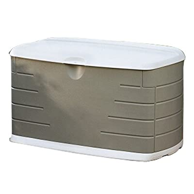 Rubbermaid Outdoor Deck Box With Seat, Medium, 46