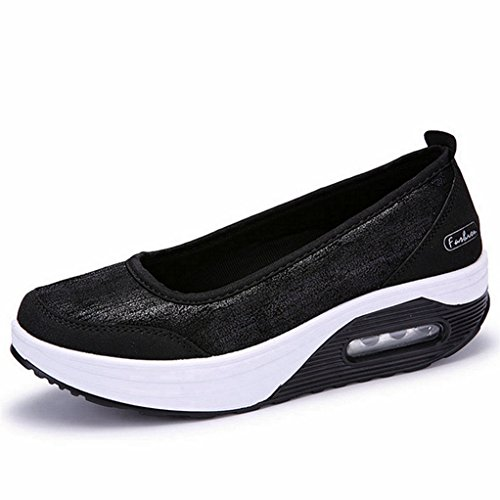GilesJones Loafers Flats Women,Casual Moccasin Round Toe Slip On Outdoor Platform Shoes