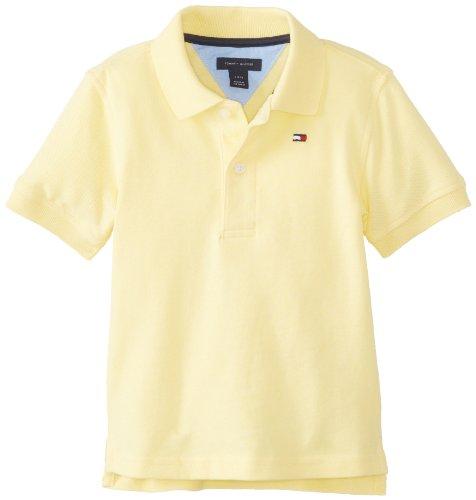 Tommy Hilfiger Baby-Boys Newborn Ivy Polo Shirt, Banana, 24 Months