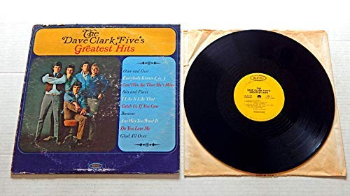 The Dave Clark Five's Greatest Hits - Epic Records 1966 - Used Vinyl LP Record - 1966 Mono Pressing LN 24185 - Over And Over - Bits And Pieces - Because - Glad All Over - Do You Love Me (Best Of Dave Clark Five)