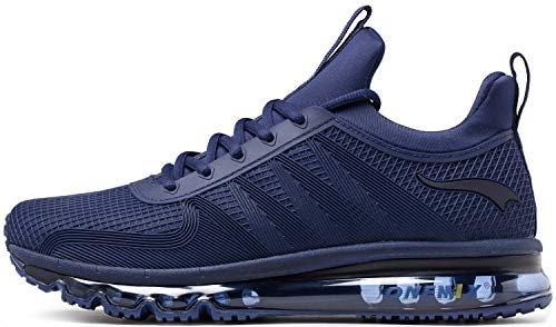 ce89a184a101f ONEMIX Running Shoes Men Lightweight Fashion Sneakers Athletic Sport Air  Cushion Shoes 1191 Darkblue 8.5