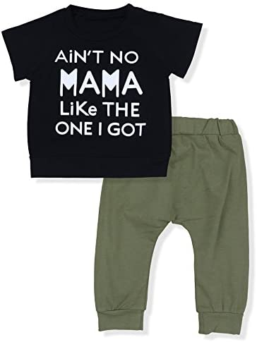 Baby Boy Clothes Funny Letter Printed Tops Leggings Pants Outfits Set for Toddler Boys