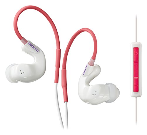 ONKYO sport earphone canal type / Waterproof / remote control with microphone / ear-hook type IE-S100CTI (W) (White)