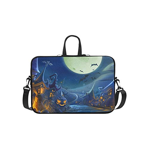 Halloween Day K Hd Wallpapers Freecomputerdesktop Pattern Briefcase Laptop Bag Messenger Shoulder Work Bag Crossbody Handbag for Business Travelling -