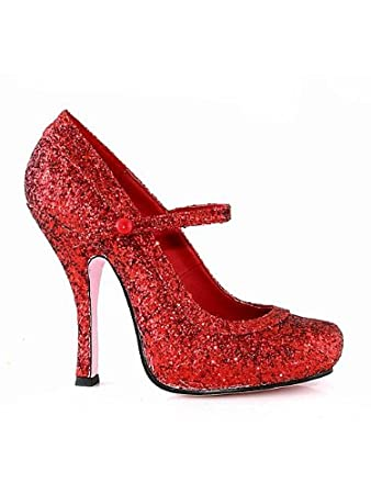 ce5cdf68e6a8f Amazon.com: Red Mary Jane Glitter Shoe Adult: Baby