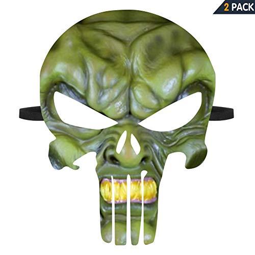 Death Skull Mask Goos-Ebumps Haunted Halloween Scary